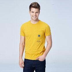 Lee 小口袋短袖圓領TEE/RG-男款-土黃色