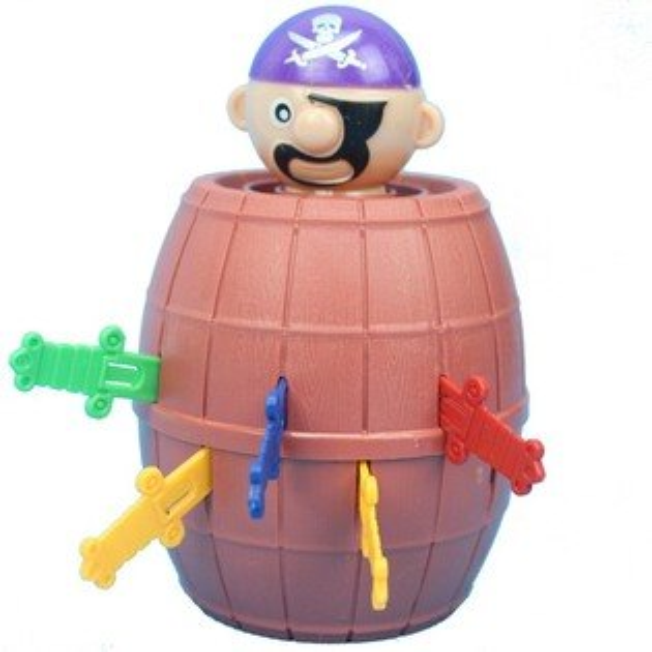 小海盜筒YF555千鈞一發海盜桶一個入{促40}插插樂插劍桶危機一發~CF132365