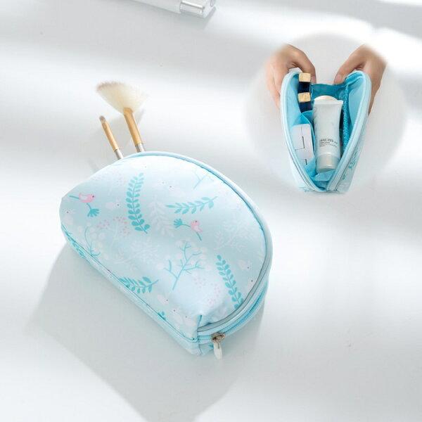 春之語系列貝殼收納包化妝包盥洗包隨身包零錢包洗漱包防潑水旅行收納【RB507】