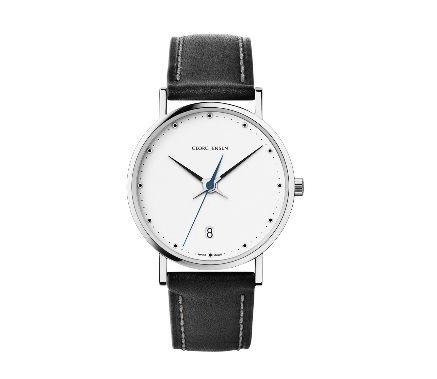 喬治傑生(GEORG JENSEN)-KOPPEL 421 白色錶盤經典腕錶-32 MM