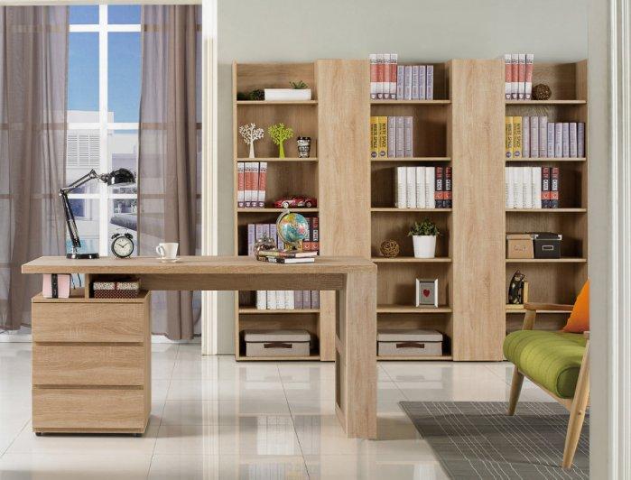 【尚品傢俱】JF-864-1 約翰5尺橡木紋電腦書桌