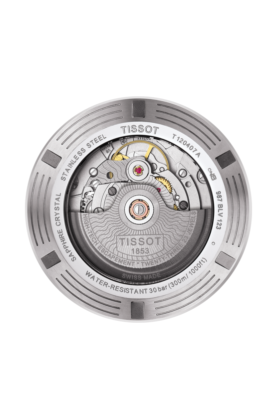 TISSOT 天梭錶 SEASTAR 1000海洋之星300米潛水機械錶T1204071104100藍 / 43mm 2