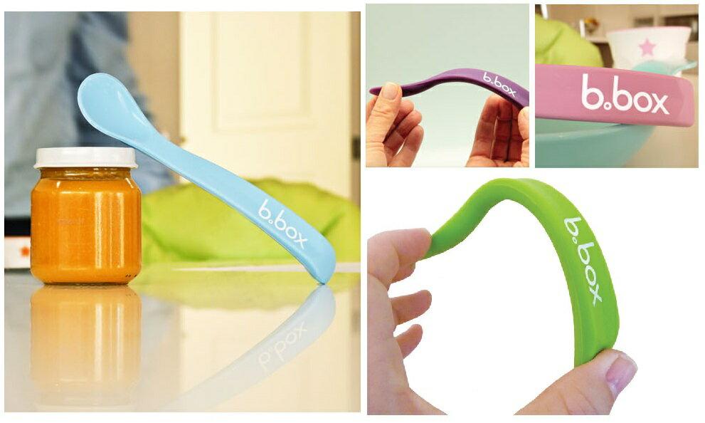 澳洲 b.box 寶寶矽膠軟湯匙 2入組 矽膠湯勺 食品級 360度任意彎曲 咬咬矽膠 0m+ 嬰兒勺