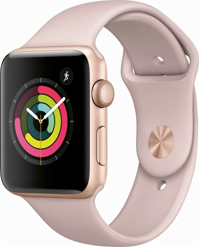 Apple Watch Series 3 (GPS), 42mm Gold Aluminum Case with Pink Sand Sport Band - Gold Aluminum