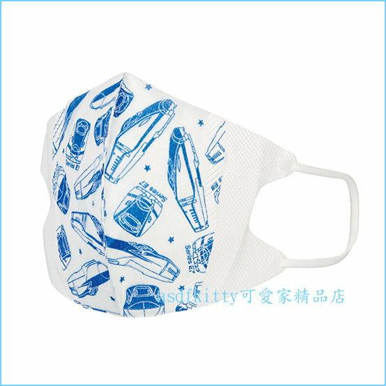 asdfkitty可愛家☆新幹線立體兒童口罩-特殊耳繩設計.耳朵不易痛毆-日本正版商品