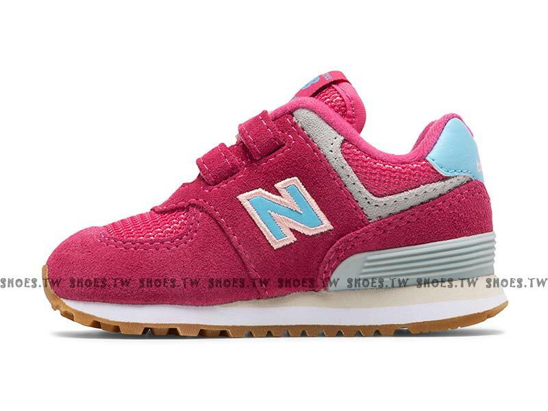 Shoestw【IV574SC】NEW BALANCE NB574 小童鞋 運動鞋 桃紅 水藍N 2