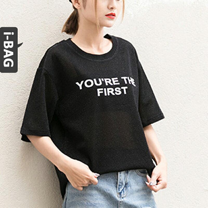 ~全店滿 699~B.A.G~現  預~~BT~7353~ 字母印花短袖T恤^(現 預^)