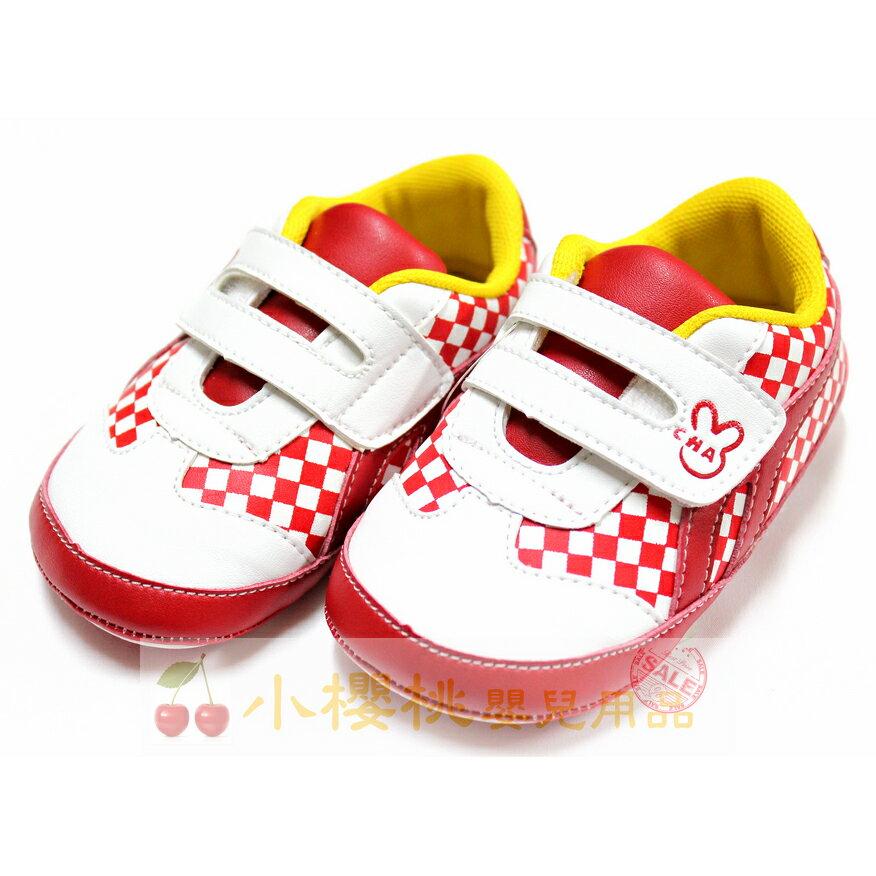 天鵝童鞋Cha Cha Two恰恰兔--賽車旗童鞋 學步鞋 台灣製造 紅色