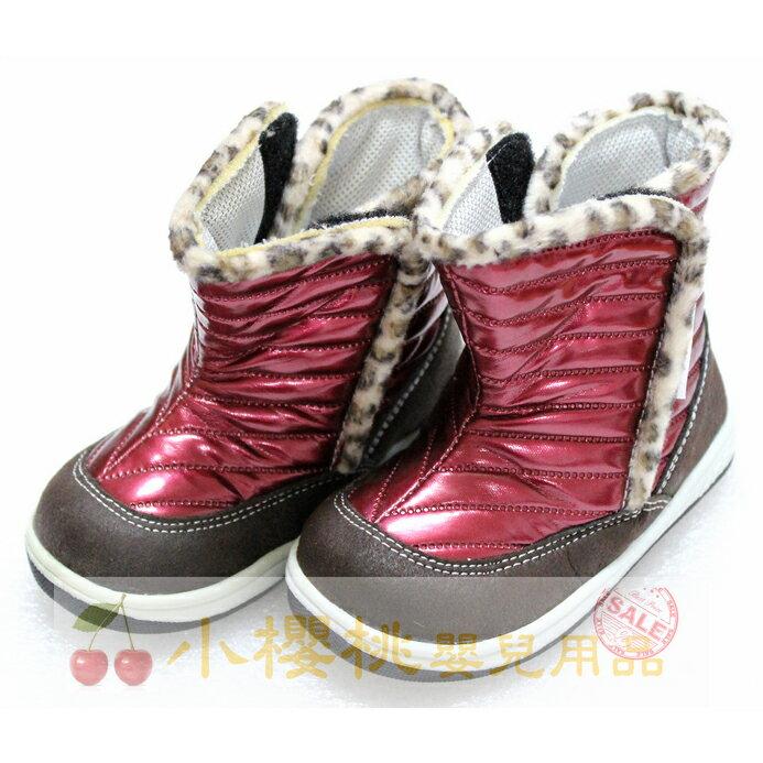 天鵝童鞋Cha Cha Two恰恰兔--桃紅亮皮 冬季短靴 童鞋 台灣製造