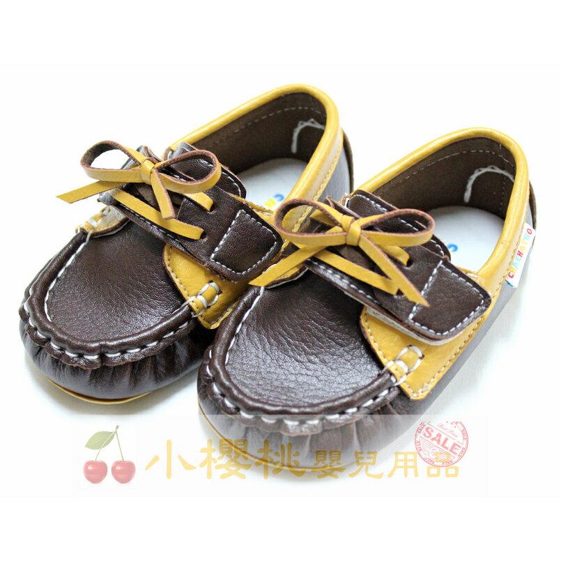 天鵝童鞋Cha Cha Two恰恰兔--紳士蝴蝶結 童鞋 學步鞋 台灣製造 咖啡色