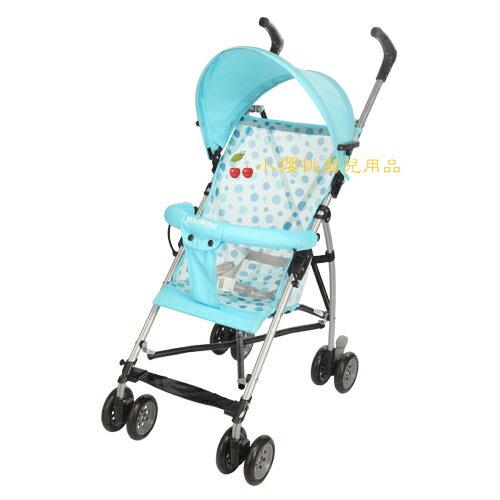you&me--時尚輕便嬰兒推車 傘車 藍色圓點