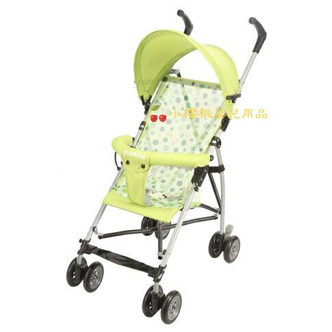 you&me--時尚輕便嬰兒推車 傘車 綠色圓點