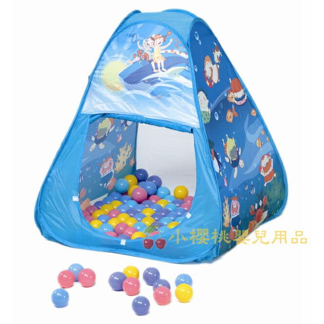 CHINH-CHING親親--球屋 三角形帳篷 附100顆彩色遊戲球【CBH-01】