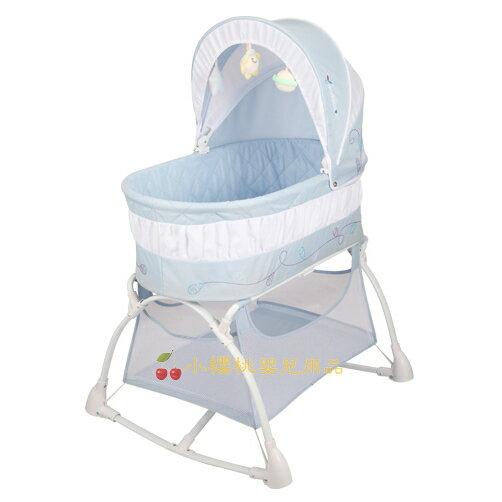 MAMALOVE媽媽愛--多功能搖床 嬰兒床【藍色】