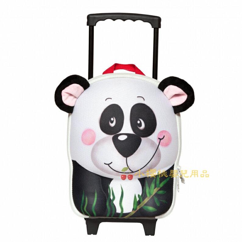 德國okiedog---立體 兒童動物造型 行李箱 拉桿書包【貓熊】