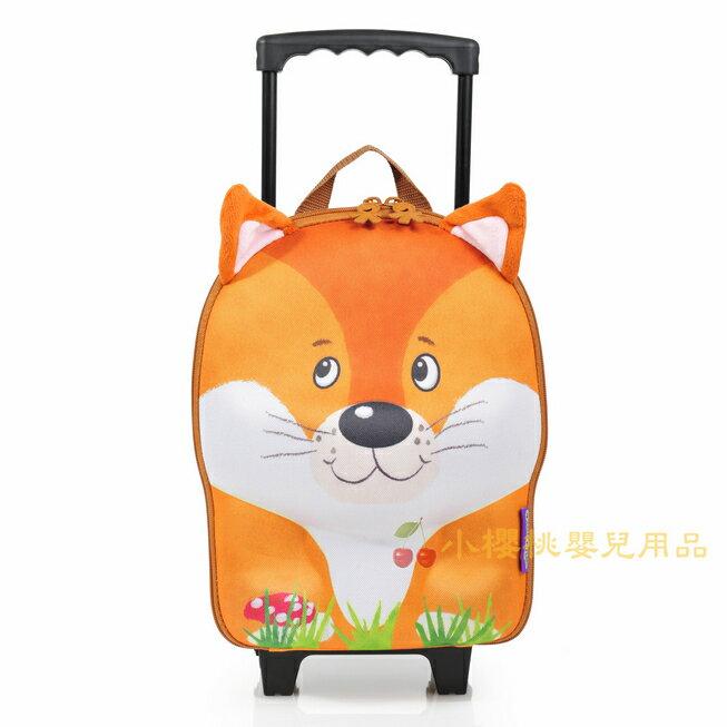 德國okiedog---立體 兒童動物造型 行李箱 拉桿書包【狐狸】