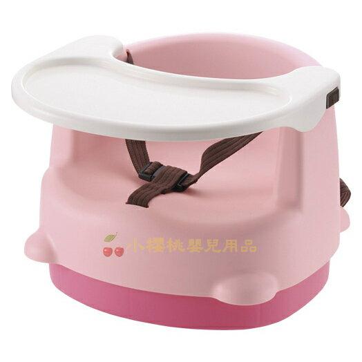 利其爾Richell--兩用型便利椅 餐椅【粉色】