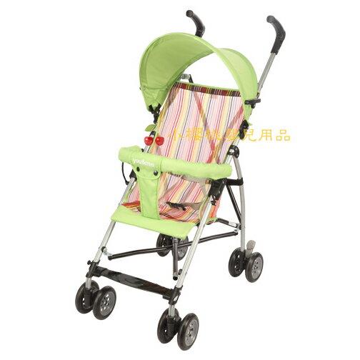 you&me--時尚輕便嬰兒推車 傘車 綠色條紋