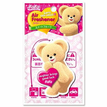 @小櫻桃嬰兒用品@日本FaFa熊--空氣清新香片『清新果香』可放車內、衣廚、浴廁、居家