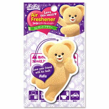 @小櫻桃嬰兒用品@日本FaFa熊--空氣清新香片『優雅花卉』可放車內、衣廚、浴廁、居家