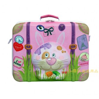 德国okiedog---立体 儿童动物造型手提箱 行李箱【兔子】