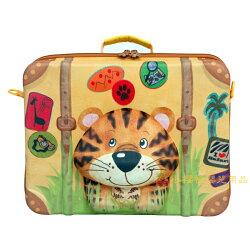 德國okiedog---立體 兒童動物造型手提箱 行李箱【老虎】