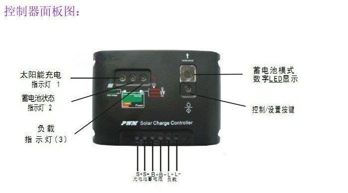 20A太陽能板充電控制器12/24V
