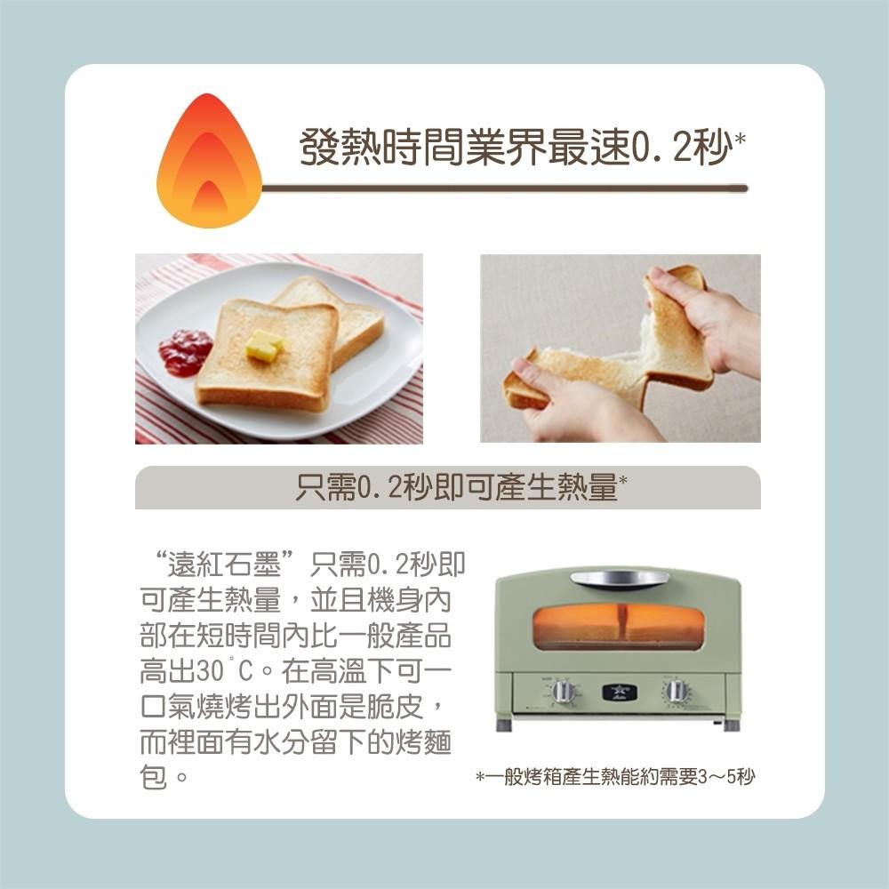 日本Sengoku Aladdin 千石阿拉丁新垣結衣的最愛「專利0.2秒瞬熱」4枚焼復古多用途烤箱(附烤盤) AET-G13T-粉紅 3
