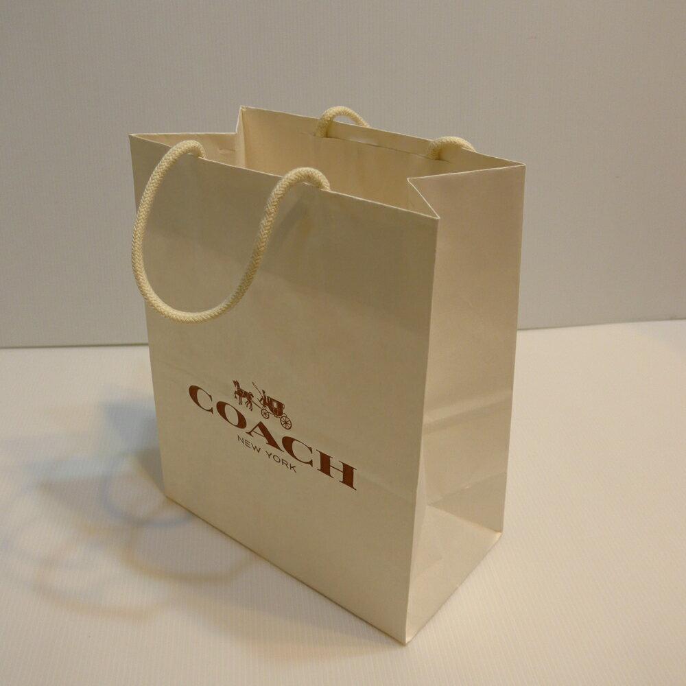 COACH小紙提袋--白