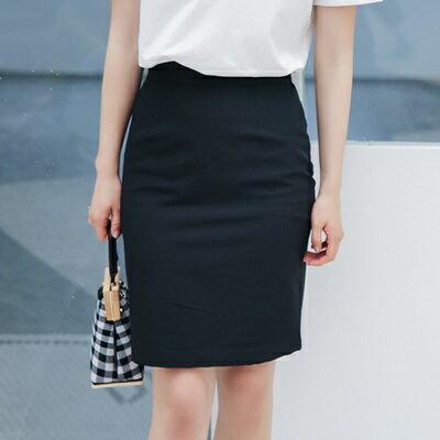 半身裙純色中長裙-簡約性感包臀及膝女裙子2色73rw31【獨家進口】【米蘭精品】
