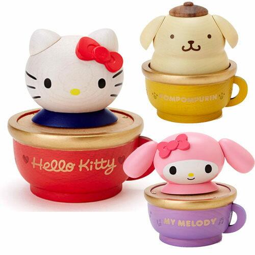 [聖誕專區]kitty美樂蒂大耳狗音樂盒木製咖啡杯聖誕好禮系列凱162040狗162293海渡