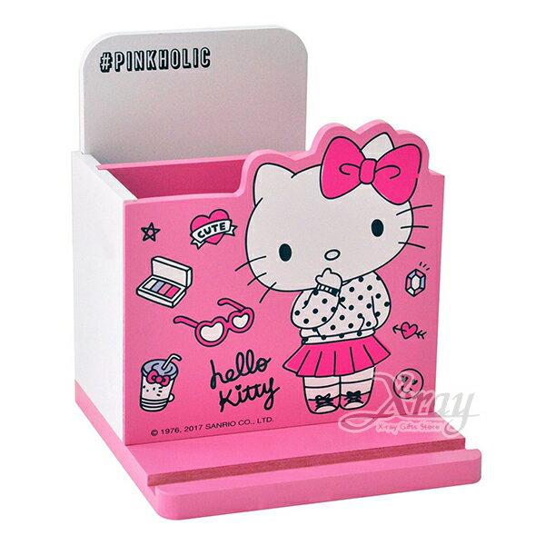 X射線【C991612】HelloKitty美妝筆筒收納盒,置物櫃收納櫃收納盒抽屜收納盒木製櫃木製收納櫃收納箱桌上收納盒