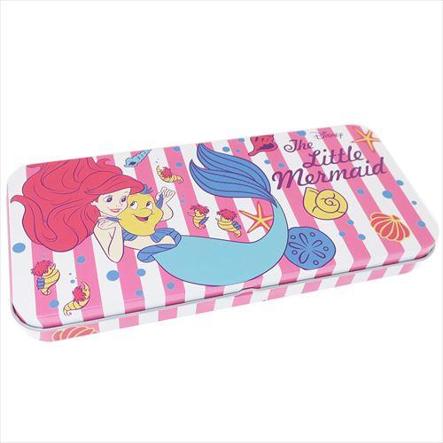 日貨 小美人魚 鉛筆盒 刷具盒 鐵筆盒 筆盒 美人魚 公主 迪士尼 文具 DISNEY 正版 J00014985