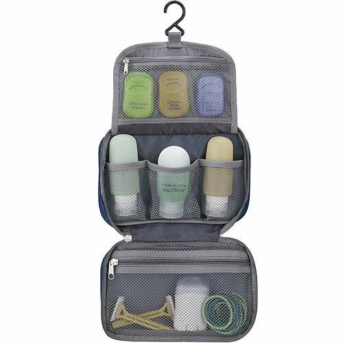 《TRAVELON》防潑水三層盥洗化妝包(黑)