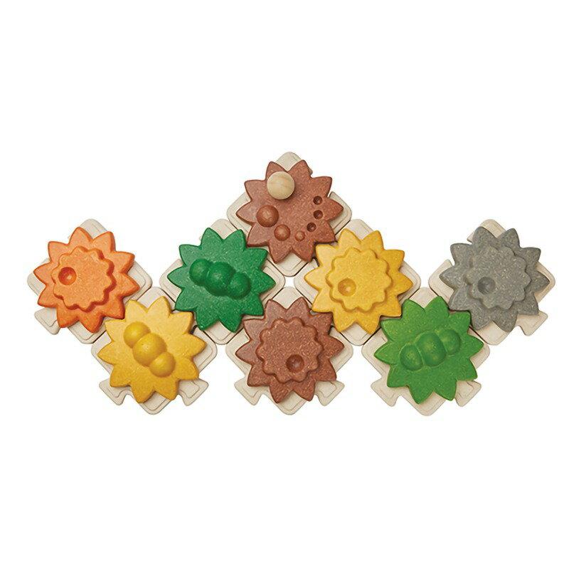 《  PLAN TOYS 》木製  創意齒輪拼圖 東喬精品百貨