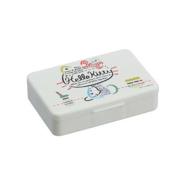 【真愛日本】16022400006 收納盒-KT坐姿白 KITTY三麗鷗 凱蒂貓 收納盒 耳環項鍊 飾品盒