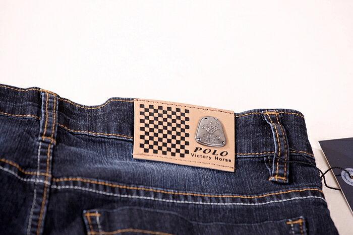 【CS衣舖 】台灣製造 刺繡 精品質感 超彈力 透氣 牛仔長褲 6561 7