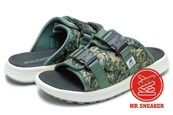 ☆Mr.Sneaker☆NEWBALANCESDL330BC拖鞋涼鞋綠色軍綠墨綠迷彩CAMO