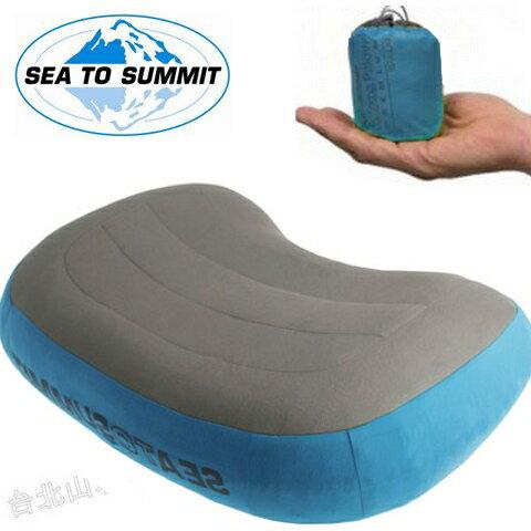 Sea to Summit 舒適充氣枕/露營枕/吹氣枕/旅行枕 Aeros Premium Pillow 超軟透氣布面 50D APILPREMRG 藍
