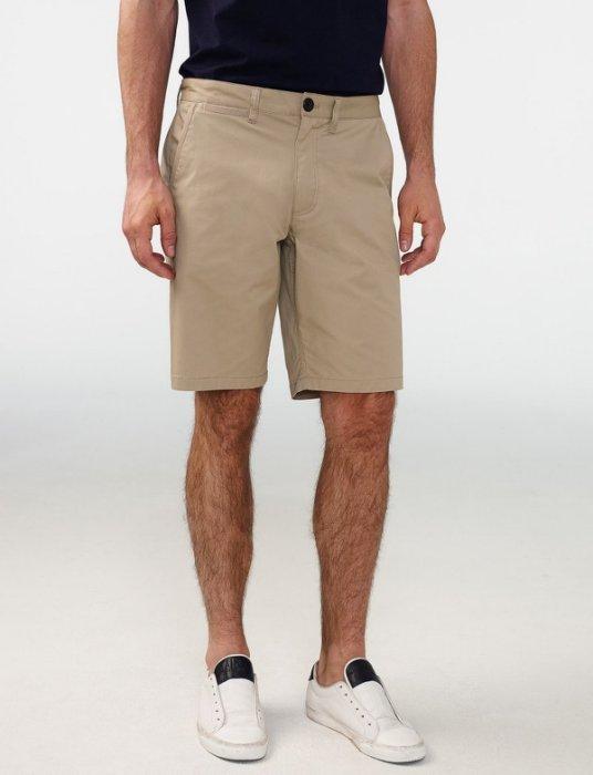 美國百分百【全新真品】Armani Exchange 短褲 AX 褲子 休閒褲 五分褲 素面 卡其色 H907