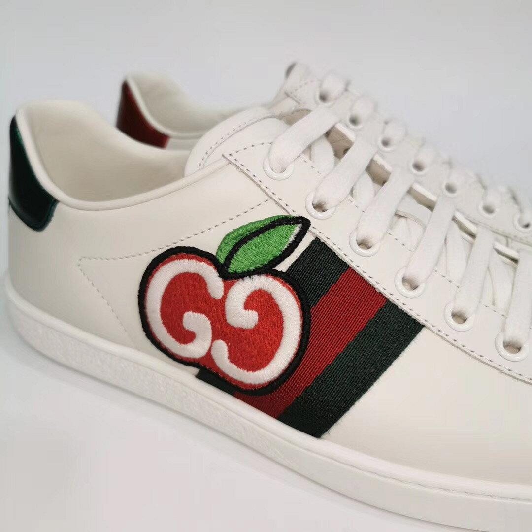 【Chiu189英歐代購】Gucci Ace sneaker with GG 蘋果 小白鞋 櫻桃 休閒鞋 611377