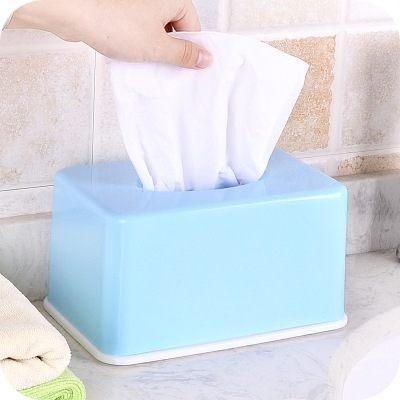PS Mall 糖果色紙巾盒家用客廳茶几桌面抽紙盒【J008】 7