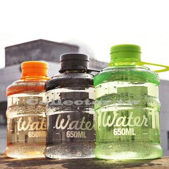 【F16062101】韓版新款mini bottle飲水機塑水桶造型水壺 大容量個性隨手隨身壺 650ml 喝水瓶