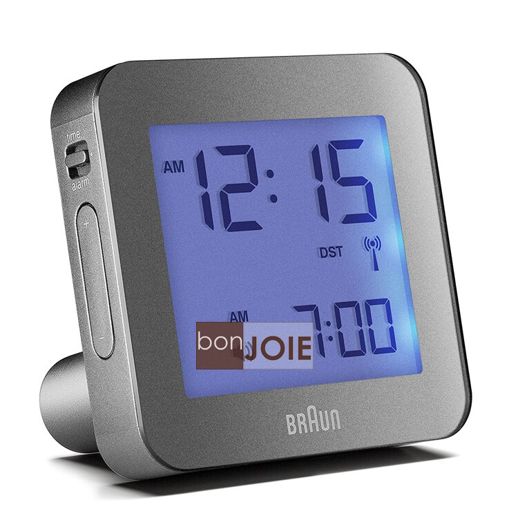 <br/><br/>  ::bonJOIE:: 美國進口 Braun BNC009 Alarm Clock 百靈數位鬧鐘 (灰色款)(全新盒裝) 博朗 時鐘 德國<br/><br/>