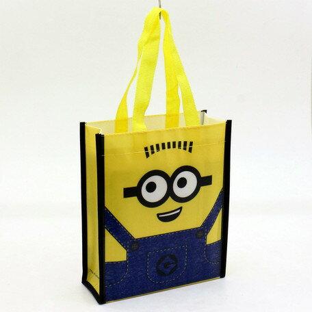 小小兵深藍牛仔手提袋黃 日貨 購物袋 環保袋 MINION 正版授權 J00011388