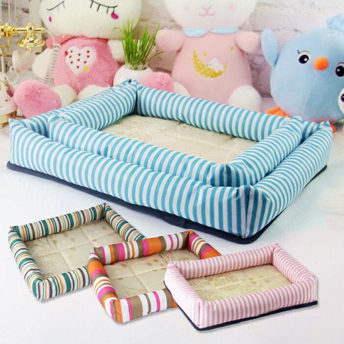清涼冰絲窩 寵物窩墊 寵物床  狗窩 貓窩 狗床 貓床 牛津布 冰絲 防潮布 透氣 舒適