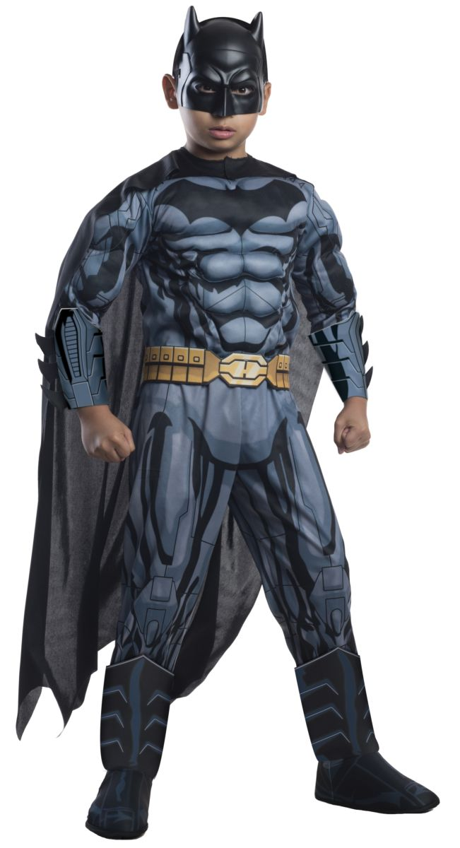 Rubie's Boy's Photo Real Deluxe Muscle Chest Kids Batman Costume, Small