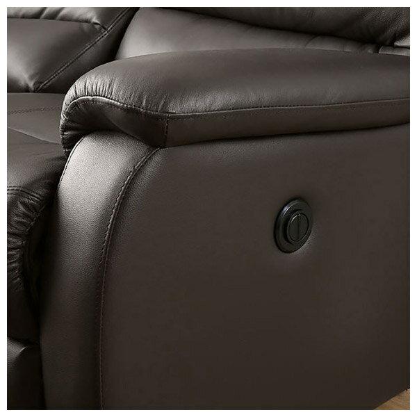 ◎(OUTLET)全皮3人用頂級電動可躺式沙發 BELIEVER DBR 福利品 NITORI宜得利家居 7