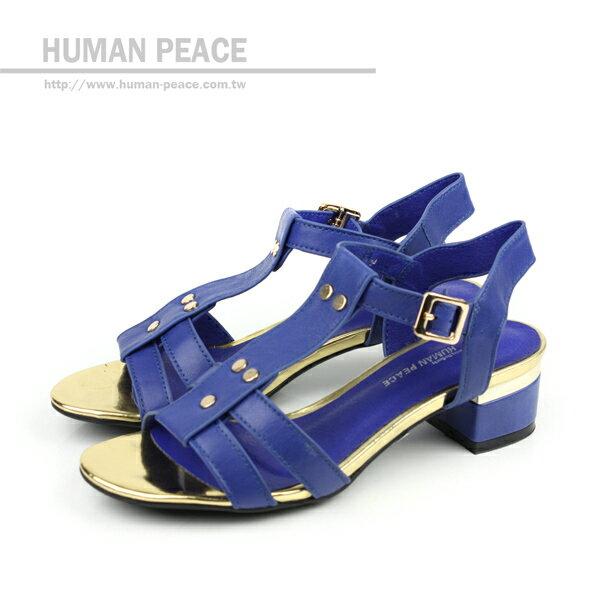 HUMAN PEACE 涼鞋 藍色 女鞋 no332