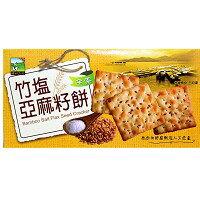 餅之鋪食品暢貨中心:竹鹽亞麻籽餅115g盒